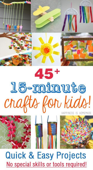 Easy Activities For Kids  45 Quick & Easy Kids Crafts that ANYONE Can Make