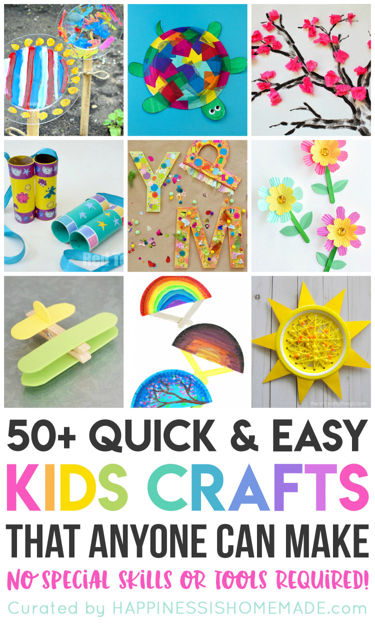 Easy Craft Ideas For Kids At School  Quick & Easy Halloween Crafts for Kids Happiness is Homemade