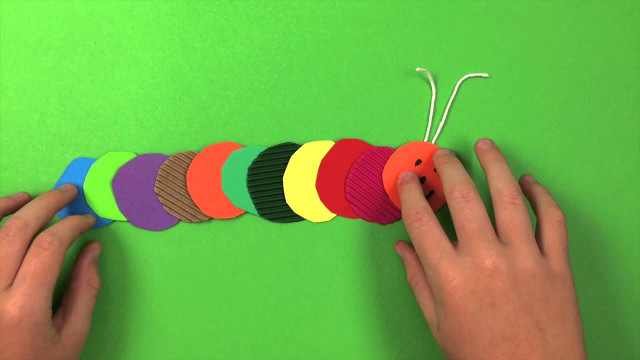 Easy Craft Ideas For Kids At School  How to make a Caterpillar simple preschool arts and