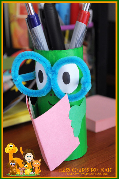 Easy Craft Ideas For Kids At School  Pencil Holder Crafts for Kids Get ready for back to school