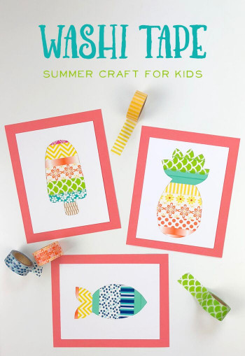 Easy Craft Ideas For Kids At School  A Fun Washi Tape Summer Crafts for Kids The Idea Room