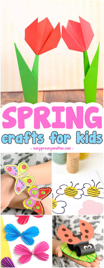 Easy Craft Ideas For Kids At School  Spring Crafts for Kids Art and Craft Project Ideas for