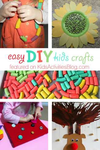 Easy DIY Crafts For Kids  5 Easy DIY Kids Crafts Simple Things to Do at Home