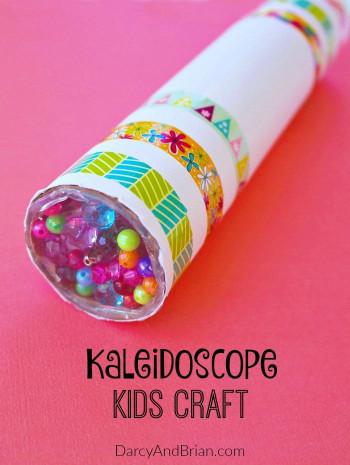 Easy DIY Crafts For Kids  Fun DIY Kaleidoscope Kids Craft