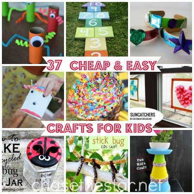 Easy DIY Crafts For Kids  37 Cheap and Easy Crafts For Kids