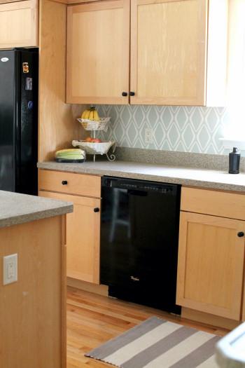 Easy Kitchen Backsplash  Easy Kitchen Backsplash $30 Tar Wallpaper