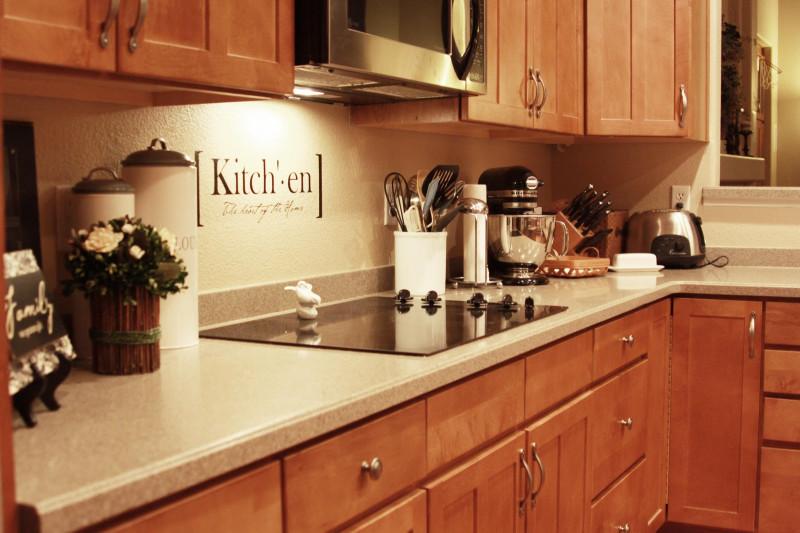 Easy Kitchen Backsplash  Easy Vinyl Backsplash for the Kitchen landeelu