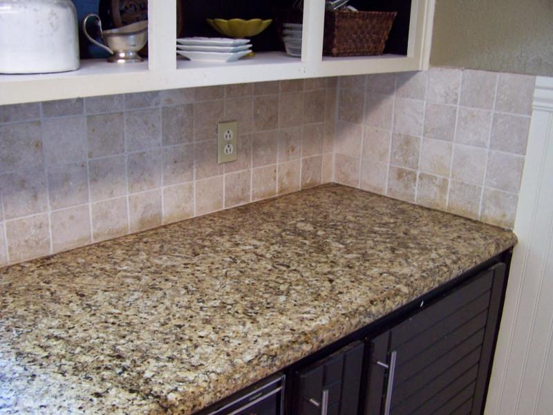 Easy Kitchen Backsplash  older and wisor Painting a Tile Backsplash and more easy
