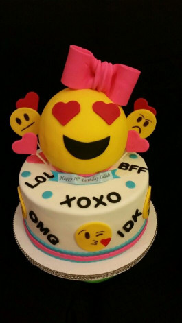 Emoji Birthday Cake  Emoji Cake Delicate Creations Custom Cakes