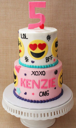Emoji Birthday Cake  30 Emoji Birthday Party Ideas Pretty My Party Party Ideas