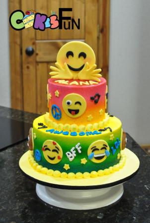 Emoji Birthday Cake  Best 25 Birthday cake emoji ideas on Pinterest