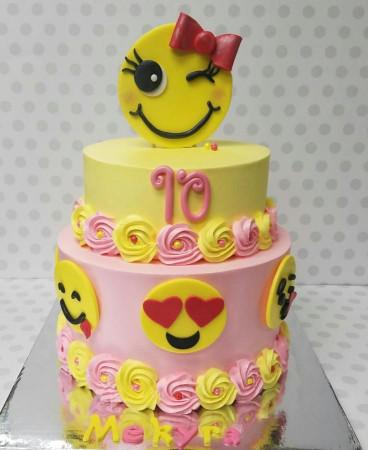Emoji Birthday Cake  Emoji cake Cake by Pastry Bag Cake Co But in blue for my