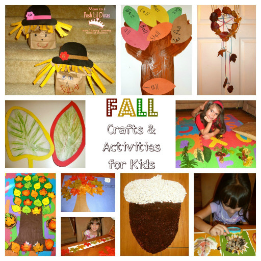 Fall Craft Idea For Kids  How about sharing some fall books with your kids and or