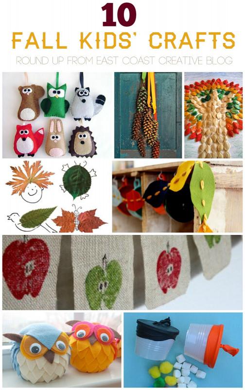 Fall Crafts Ideas For Kids  10 Fall Kids Crafts East Coast Creative Blog