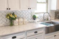 Farmhouse Kitchen Backsplash Luxury White Kitchen Kitchen Decor Subway Tile Herringbone