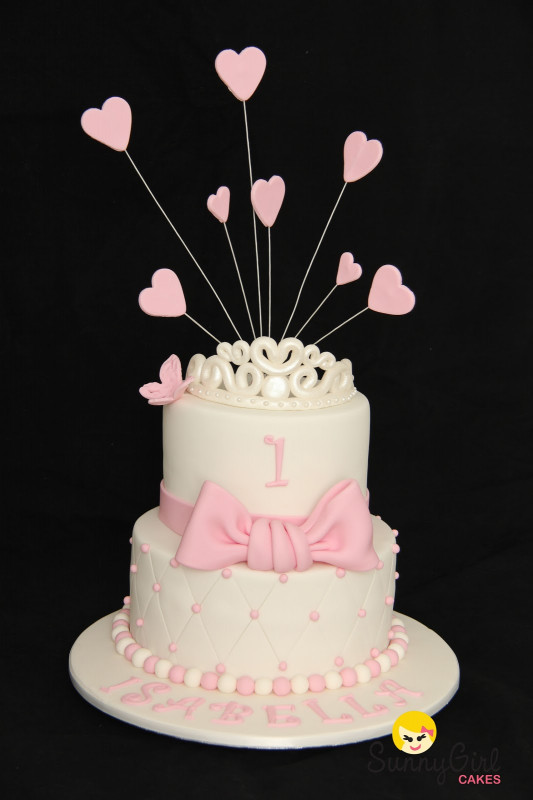 First Birthday Cake  Princess Isabella First Birthday