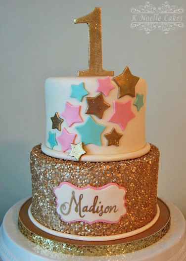First Birthday Cake  1st Birthday Cake with Twinkle Little Star theme by K