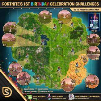 Fortnite Birthday Cake Location  Fortnite Birthday Cake Locations Revealed