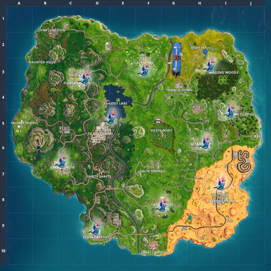 Fortnite Birthday Cake Map Awesome fortnite Birthday Cake Locations Guide where to Dance for