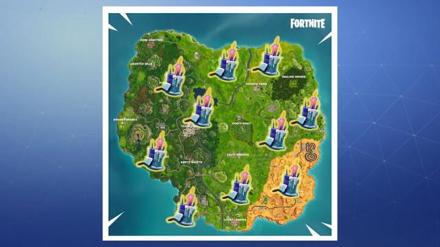 Fortnite Birthday Cake Map  Fortnite Where to find all 10 battle royale birthday
