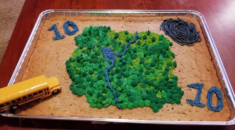 Fortnite Birthday Cake Map  My fiance made my son the Fortnite map on his 10th