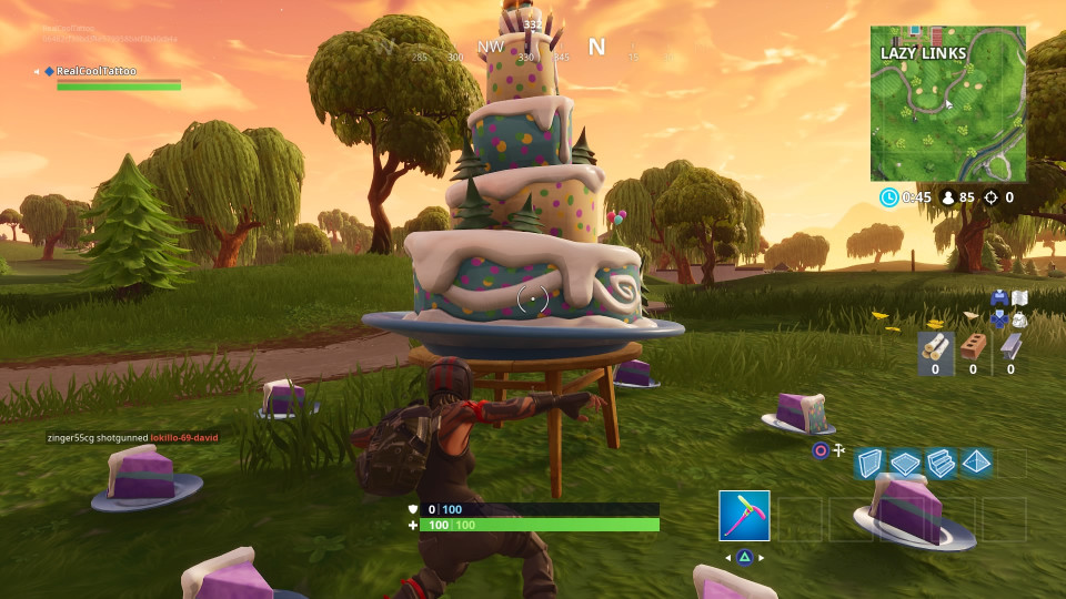 Fortnite Birthday Cake Map  Fortnite Birthday Cake locations Dance in front of