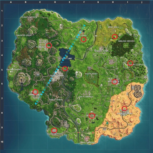 Fortnite Birthday Cake Map  Fortnite Birthday Cake Locations Dance in Front Cakes