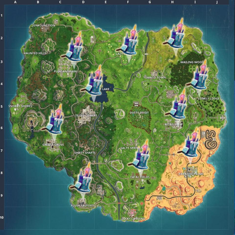 Fortnite Birthday Cake Map  Fortnite Birthday Cake Locations – Wired4Games