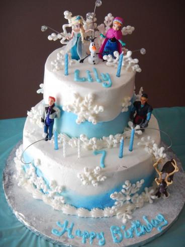 Frozen Birthday Cake  Frozen birthday cake for our granddaughter Lilyana