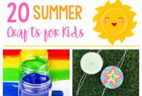 Fun and Easy Crafts for Kids Luxury 20 Simple & Fun Summer Crafts for Kids