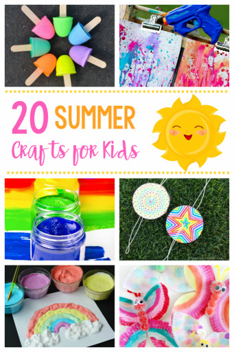 Fun Arts And Crafts For Kids  20 Simple & Fun Summer Crafts for Kids