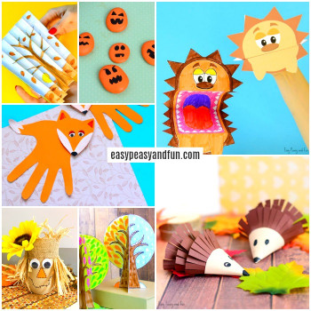 Fun Arts And Crafts For Kids  Fall Crafts For Kids Art and Craft Ideas Easy Peasy