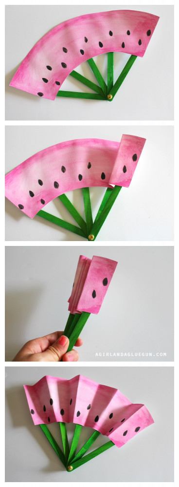 Fun Arts And Crafts For Kids  DIY Fruit Fans Kids Craft The Idea Room