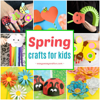Fun Arts And Crafts For Kids  Spring Crafts for Kids Art and Craft Project Ideas for