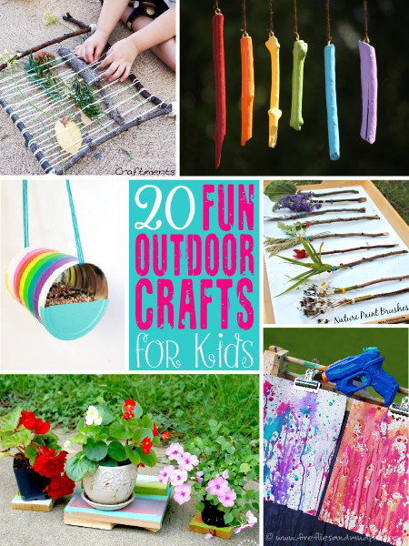 Fun Craft Ideas For Kids  20 Fun Outdoor Craft Ideas for Kids The Scrap Shoppe