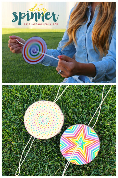 Fun Craft Ideas For Kids  DIY Paper Spinner for Endless Fun