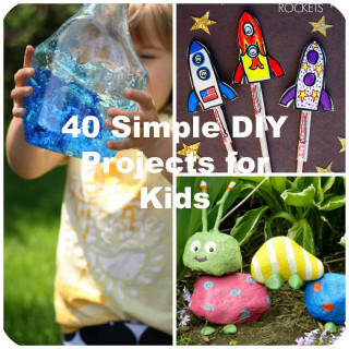 Fun DIYs For Kids  40 Simple DIY Projects for Kids to Make