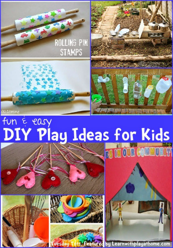 Fun DIYs For Kids  Learn with Play at Home Fun and Easy DIY Play Ideas for Kids