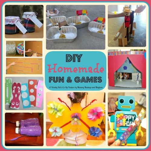 Fun DIYs For Kids  Weekly Kid s Co Op DIY Homemade Fun & Games The