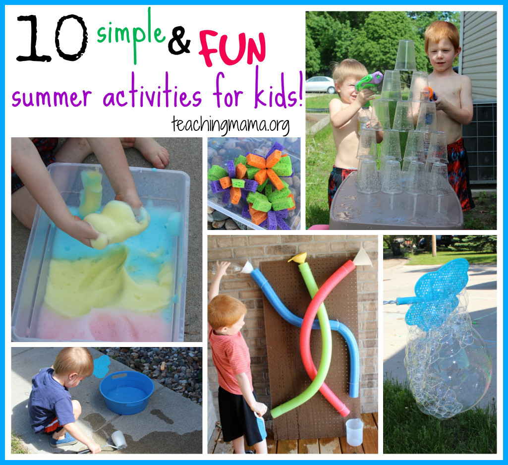 Fun Ideas For Kids  10 Simple and Fun Summer Activities for Kids