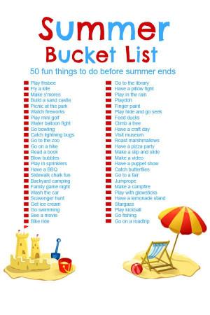 Fun Ideas For Kids  Summer Bucket List 50 Fun Activities for Kids