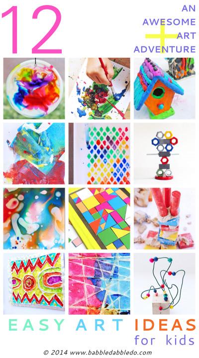 Fun Ideas For Kids  12 Easy Art Ideas for Kids Babble Dabble Do