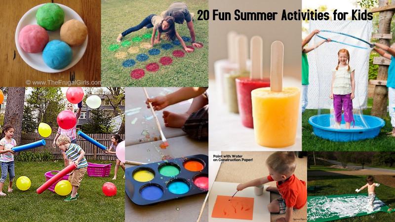 Fun Ideas For Kids  20 Fun Summer Activities for Kids I Dig Pinterest