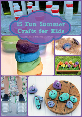 Fun Kids Crafts  15 Fun Summer Crafts for Kids A Mom s Impression