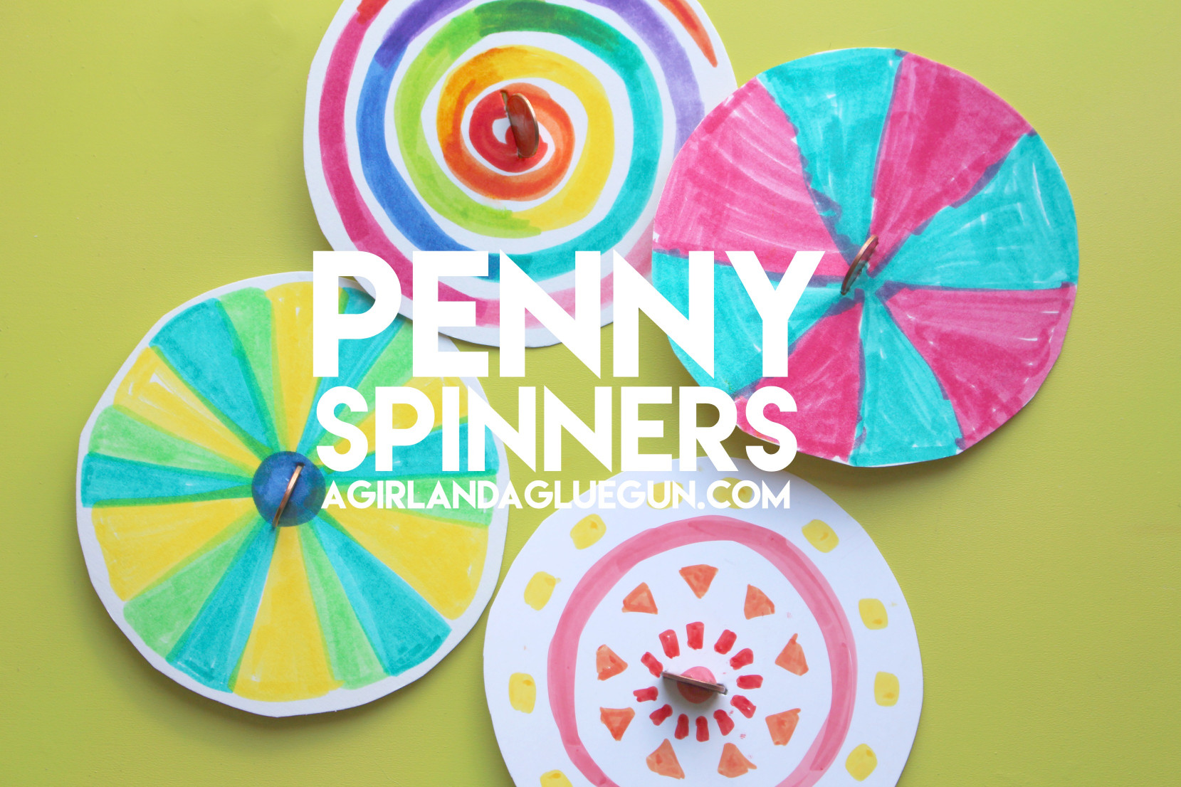 Fun Kids Crafts  penny spinners fun kids crafts Design Dazzle