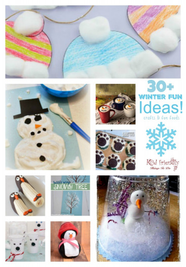 Fun Kids Crafts  Over 30 Winter Themed Fun Food Ideas and Easy Crafts Kids