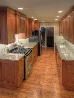 Galley Kitchen Design  Wide Galley Kitchen Home Design Ideas Renovations & s