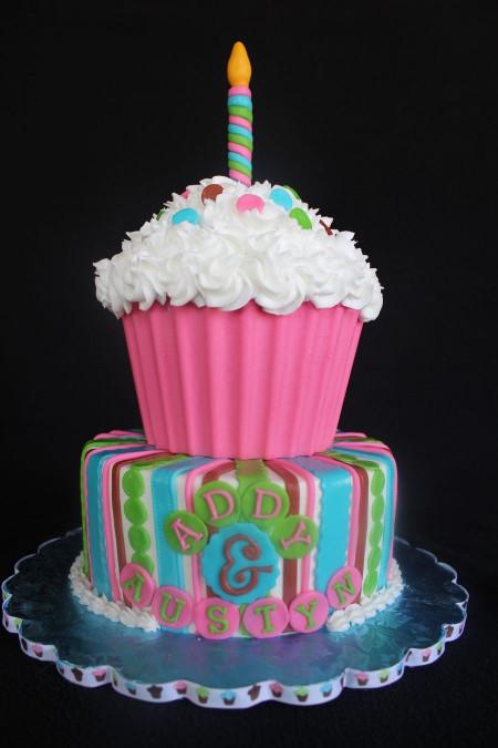Giant Birthday Cake  Giant Cupcake Cake on Cake Central
