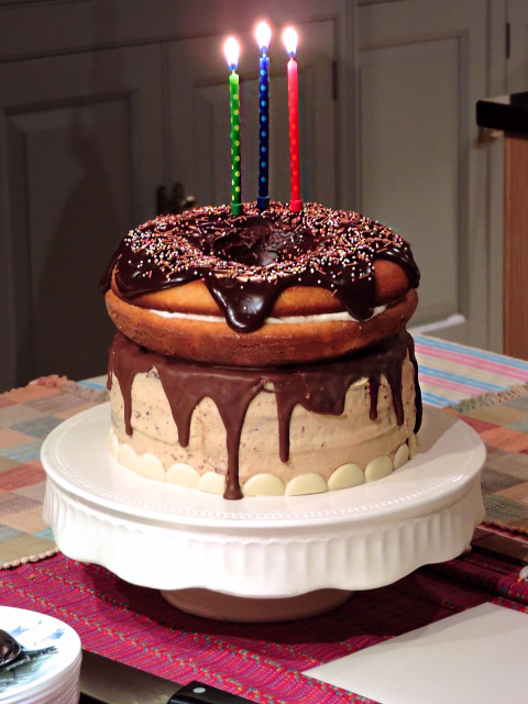 Giant Birthday Cake  Giant Doughnut Birthday Cake – BakedByH