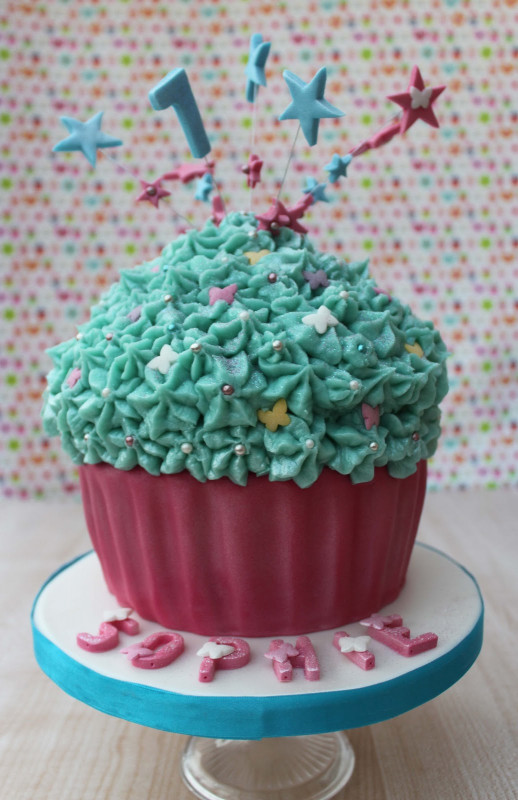 Giant Birthday Cake  Snowballs in Summer Cupcake birthday party the giant